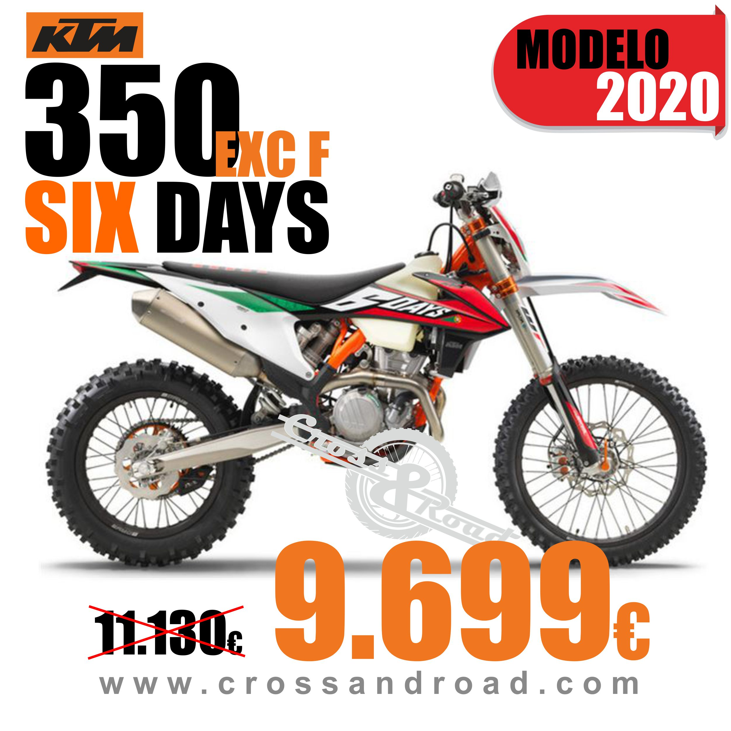 OFERTA MOCICLETA KTM 350 EXC F SIX DAYS (Mod 2020)